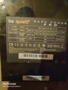 Napojna jedinica Be Quiet dark power Pro 750w