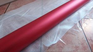 Folija crvena mat metalic