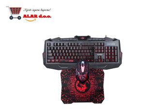 Marvo Gaming tastatura, miš i podloga set G1 KM400