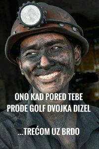 Golf dvica trica