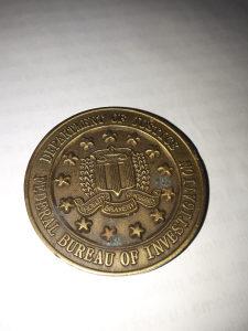 Kovanice medaljon FBI