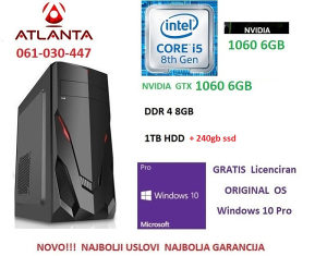 i5 8400 240gb ssd 1TB 8GB DDR4 1060 6GB