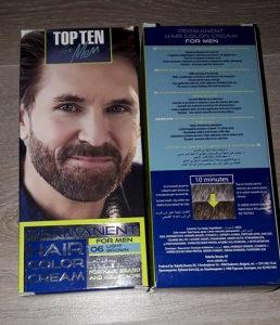 Farba za bradu kosu brkove muskarce svijetlo smeđa