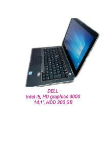 Laptop DELL, i5, HD graphics 3000