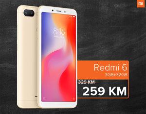 XIAOMI REDMI 6 / 3GB RAM / 32GB ROM / DUAL SIM
