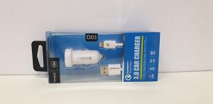 Autopunjač D03 IPHONE 2,8A