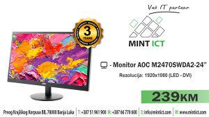 "Monitor AOC M2470SWDA2 - 24"""