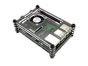 Akrilno kućište sa ventilatorom za Raspberry Pi