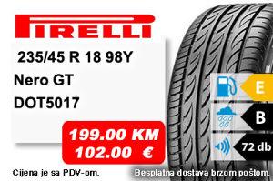 Auto Gume / guma 235/45 R 18 98Y Pirelli Nero GT
