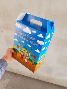 Bajramska kartonska kutija za paketic bajram djecija