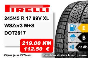 Auto Gume / guma 245/45 R17 99V XL Pirelli WSZer3 M S