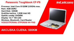 AKCIJA!!! Panasonic Toughbook CF-F9 Core i5