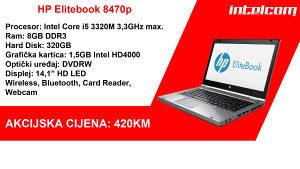 HP Elitebook 8470p Core i5, SA NOVOM BATERIJOM