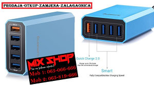 LUMSING Brzi punjač 40W 5 Port Hub USB Fast Charger