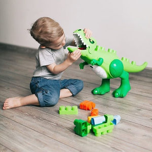 POLESIE Veliki dinosaurs/dino koji guta kockice