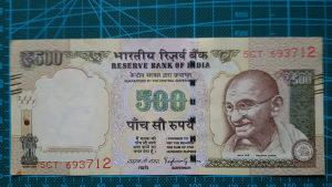 Novcanice Indija 500 rupija