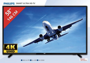 "Philips 4K 58"" UltraHD TV 58PUS6203/12 Smart WiFi 2019"