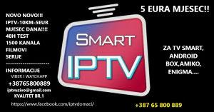IPTV-5EUR 1500KANALA(ANDROID,SMART,MAG,AMIKO....)