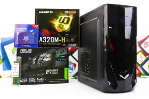 Gaming PC Sirius; Ryzen 3 2300X; GTX 1050; 120GB SSD