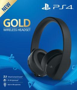 PS4 Wireless Gold Headset Black - 3D BOX - BANJA LUKA