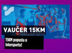 Intersport kupon 15 KM