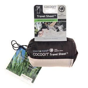 Cocoon 100% Silk Insect Shield Travel Sheet