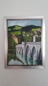 Umjetnička slika Most u Visegradu