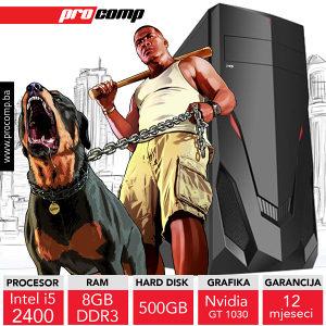 GAMING RAČUNAR SIRIUS II i5 2400 Nvidia GT 1030 2GB