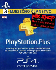 HR PS PLUS 3 mjeseca Hrvatska playstation pretplata PS4