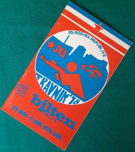 Sportski bilten sa Armijskog takmičenja 1978