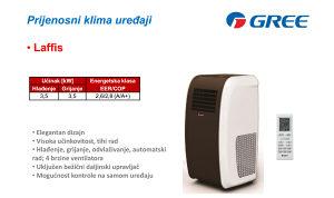 Prijenosni klima uređaj mobilna klima Gree Laffis