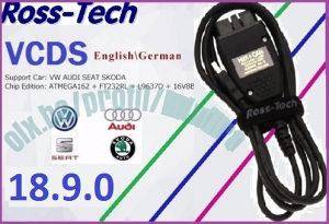 VAG COM 18.9.0 VCDS Ross-Tech Full chip HEX CAN-USB