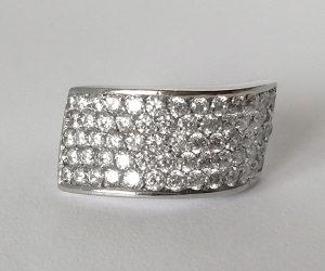 Zlatni prsten - Bijelo zlato 585
