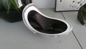 Staklena zdjela RETRO crno/bijela