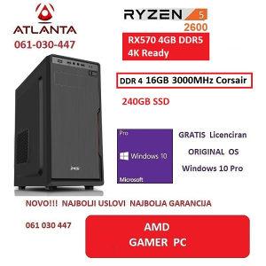 AMD Ryzen 5 2600 Rx 570 16GB DDR4 rx570 gamer pc