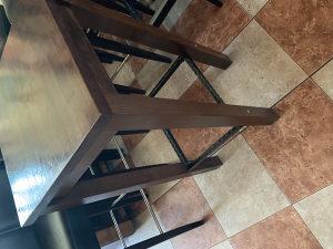 Visoki drveni barski stol, stolovi 50x50