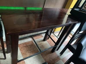 Visoki drveni barski stol,stolovi 90x60