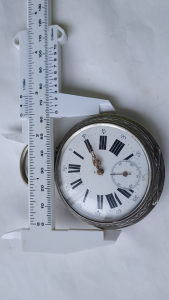 VELIKI SREBRNI SAT 64mm ECLIPSE cirka 1850 godina
