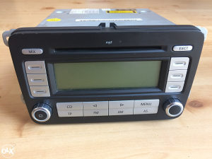 CD MP3 radio golf 5,passat 6,caddy sa kodom