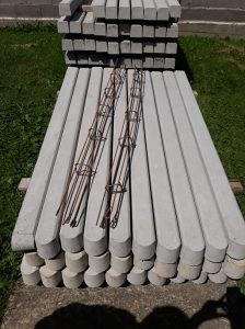 Armirani betonski stubovi za ogradjivanje