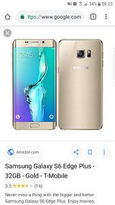 Samsung s6 edge gold