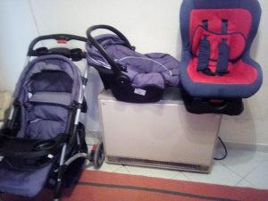 Dječija kolica i auto sjedalica i nosiljka. Sve zajedno