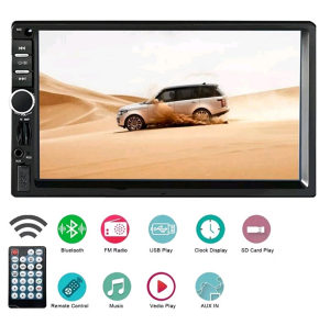 AUTO RADIO 2 DIN, MP5, MP3, BLUETOOTH, USB, SD