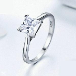 Ženski prsten 100 % srebro pečat 925 br. 7