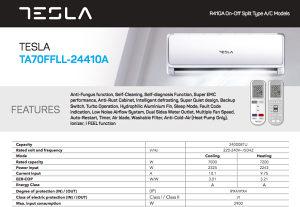 Tesla 24-ka klima A klasa TA70FFLL-24410A snaga 7.2kW