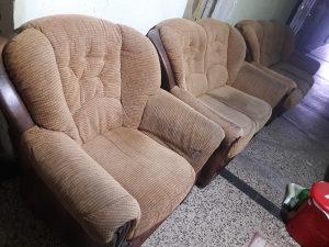 Garnitura trosjed,dvosjed i fotelja