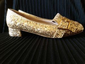 Topshop Gold Glitter Cinderella 36