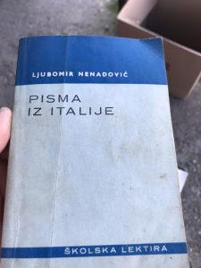 """Knjiga """"Pisma iz Italije"""" Ljubomir Nenadovic"""