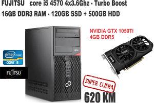 Računar i5 4570 /GTX 1050Ti /16GB RAM/SSD