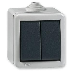 Prekidač serijski 10A IP55 nadgradni OG siluminski